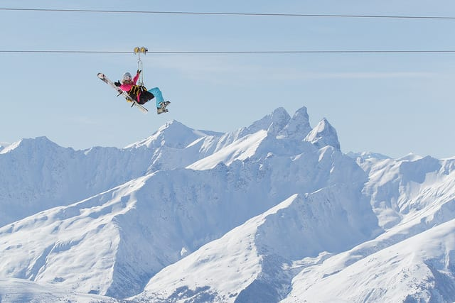 Val Thorens Zip Wire