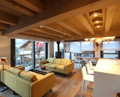 Living Room Chalet Chez Mamie Courchevel