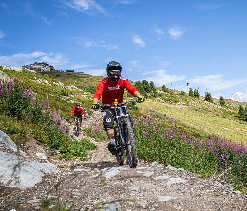 Mountain biking Courchevel 2020